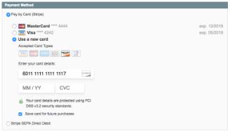 Stripe Payments screenshot